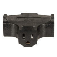 Inland 3-Way 3-Outlet Wall Plug Adapter - Black