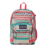 "Jansport Digital Student Laptop Backpack fits Screens up to 15"" - Malt Tan Boho Stripe"