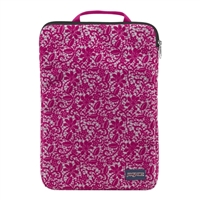 "Jansport 15"" 1.0 Laptop Sleeve - Cyber Pink Lace Floral Flock"