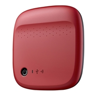 "Seagate Wireless Mobile Storage 500GB USB 2.0 2.5"" WiFi Portable Drive STDC500402 - Red"
