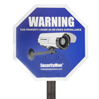 SecurityMan Reflective Security Warning Sign with Yard Stake