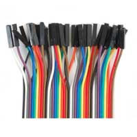 """MCM Electronics 3"""" Female to Female Jumper Wires - Strip of 40 Wires"""