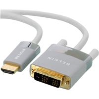 Belkin HDMI Male to DVI-D Male Cable 6 ft. - White