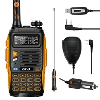 SainSmart GT-3 Mark II Dual Band Two-Way Radio with High Gain Antenna and Car Charger