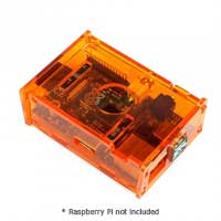 SainSmart Transparent Acrylic Box for Raspberry Pi B - Orange