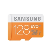 Samsung 128GB Class 10 EVO microSD Memory Card With Adapter
