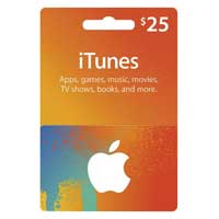 Apple iTunes Gift Card - $25