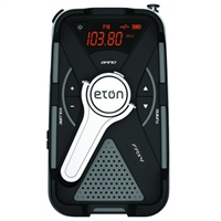 Eton FRX4 Rugged, Smartphone Charging Weather Alert Radio with Solar Power