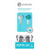 Yurbuds Inspire 100 Earbuds for Women - Aqua