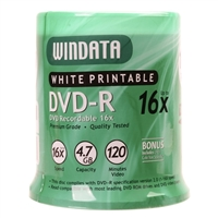 Windata Hub Printable DVD-R 16x 4.7GB/120 Minute - 100 Pack