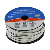 JDI Tech 50ft. Indoor Speaker Cable (18-Gauge, 2-Conductor) - White