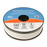 JDI Tech 50ft. Heavy Duty Indoor Speaker Cable (10-Gauge, 2-Conductor) - White