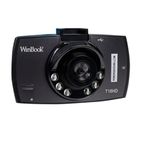 "WinBook T18HD 720p H.264 2.4"" LCD Dashcam with G-Sensor"