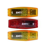 Emtec International ECMMD16GC410P3 C410 Color Mix 16GB USB 2.0 Flash Drive 3-Pack