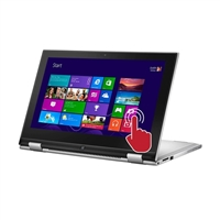 """Dell Inspiron 11 11.6"""" 2-in-1 Laptop Computer Refurbished - Silver"""