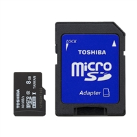 Toshiba 8GB Class 10 Micro Secure Digital SD Flash Memory Card PFM008U-2DCK