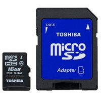Toshiba 16GB Class 10 Micro Secure Digital (Micro SD) Flash Media Card