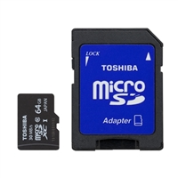Toshiba 64GB Class 10 Micro Secure Digital (Micro SD) Flash Media Card