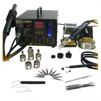 Aoyue 3 in 1 Digital Hot Air Rework and Soldering Station