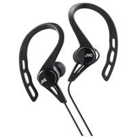 JVC Inner-Ear Pivot Sports Clip Headphone - Black