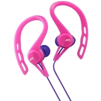 JVC Inner-Ear Pivot Sports Clip Headphone - Pink