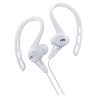 JVC Inner-Ear Pivot Sport Clip Headphone - White