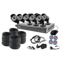 Swann Communications 16 Channel Analog 720p Digital Video Recorder & 8 x PRO-A850 Black Bullet Cameras