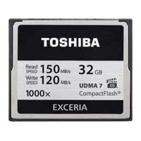 Toshiba 32GB Exceria 1000x CompactFlash Memory Card