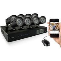 Amcrest 8CH 2TB DVR Security Camera System w/ 8 x 1MP Bullet Cameras