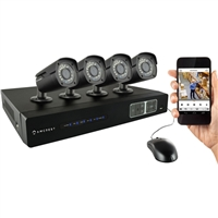 Amcrest 4CH 1TB DVR Security Camera System w/ 4 x 1MP Bullet Cameras