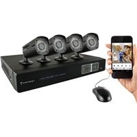Amcrest 4CH 1TB DVR Security Camera System w/ 4 x 1MP Bullet Cameras