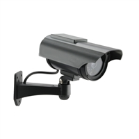 FosCam FD2150 Solar Powered Outdoor Dummy Camera with Red Blinking Light Charcoal