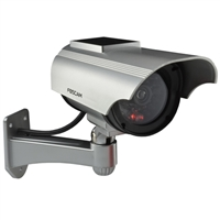 FosCam Solar Powered Outdoor Dummy Camera with Red Blinking Light Charcoal