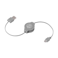 Emerge Retractable Micro USB Cable - Silver