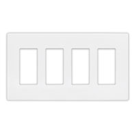 Insteon Quad Wall Plate White