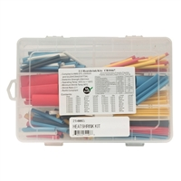 "MCM Electronics Heat Shrink Tubing Multiple Diameters Thin Wall 2 - 2 1/2"" Length 180 pcs - Multicolor"