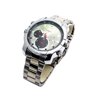 Mini Gadgets Inc. 1080p HD Silver Spy Camera Watch with 4GB Memory