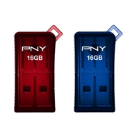 PNY P-FDU16GX2SLK-GE Micro Sleek USB 2.0 Flash Drives 2 pack.