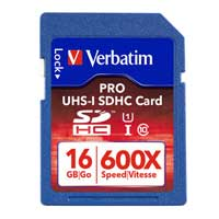 Verbatim 16GB PRO SDHC Class 10 / UHS-1 Flash Memory Card