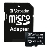 Verbatim 64GB Micro SDXC Class 10 Flash Media Card