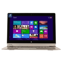 "Toshiba Satellite Click 2 Pro 13.3"" 2-in-1 Laptop Computer - Brushed Aluminum in Satin Gold"