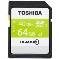 Toshiba 64GB SD Class 10 Flash Media Card