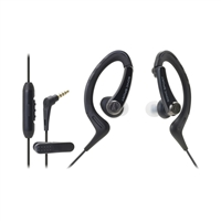 Audio Technica SonicSport In-Ear Headphones for Smartphones - Black