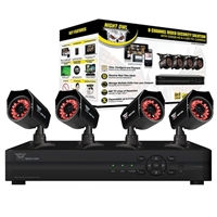Night Owl 8 Channel DVR with 500GB HDD and 4 High Resolution Cameras