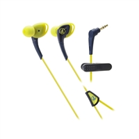Audio Technica SonicSport In-Ear Headphones - Navy/Yellow