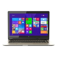 "Toshiba Satellite Click 2 13.3"" 2-in-1 Laptop Computer Refurbished - Brushed Aluminum in Satin Gold"