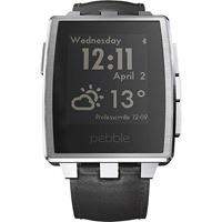 Pebble Technology Steel Smartwatch - Brushed Stainless