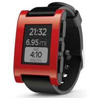 Pebble Technology Smartwatch - Red