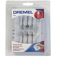Dremel Router Bit Set - 6 Piece