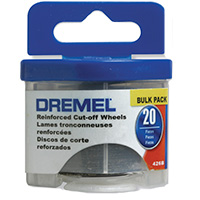 "Dremel 1-1/4"" Fiberglass Reinforced Cut-off Wheels - 20 Pack"